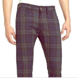 NWT Edgy Levi's Plaid Men's Pants Sz. 32x30